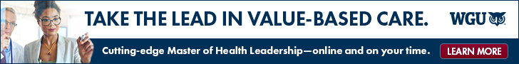 WGU's online Master of Health Leadership program is designed to put you in the lead of the shift