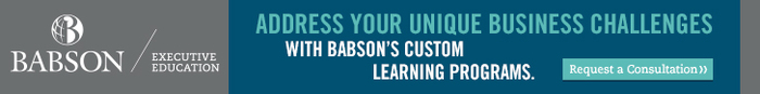 Address unique business challenges with Babson's custom learning programs. Request a consultation.