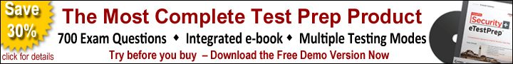 Download Free Demo Version of Sybex eTestPrep Software and save 30% when you purchase the full version.