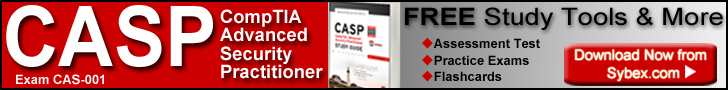 Download free study tools for the new CompTIA Advanced Security Practitioner certification exam from Sybex.com.